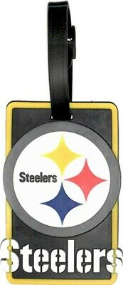 PITTSBURGH STEELERS SOFT BAG TAG FOOTBALL LUGGAGE NFL ID INFORMATION TRAVEL (Pittsburgh Steelers Soft Football)