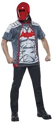 Red Hood Adult Mens Hoodie with Mask, - Red Hood Kostüm Hoodie