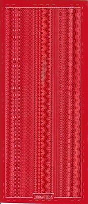 Sticker-Bogen-verschiedene dünne Ränder-rot-306r