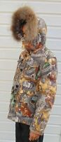 delux winter jacket, down-filled, autumn camo, size S