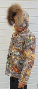 delux winter jacket, down-filled, autumn camo, size S West Island Greater Montréal image 1