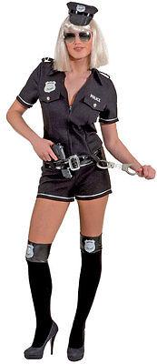 Police Girl Overall Damenkostüm schwarz NEU - Damen Karneval Fasching Verkleidun ()