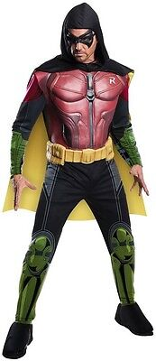 Arkham Robin Muscle Adult Mens Costume, Rubies, 884822, Red