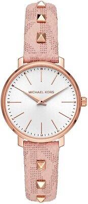Michael Kors Ladies Pyper Rose Gold-Tone Blush Strap Watch  - MK2873