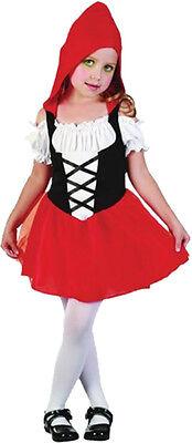 niedliches Mädchen Kostüm Rotkäppchen Märchen Fantasy Gr.98/104 (Rotkäppchen Kostüm Mädchen)