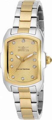 Invicta Lupah 15844 Women's Silver Gold Tone Analog Tonneau Stainless Watch