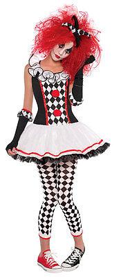 Mädchen Harley Quinn Kostüm Hofnarr Clown Kostüm Outfit Buch Woche Neu 12 - Harley Quinn Kostüm Teen