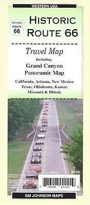 Map of Historic Route 66 & Grand Canyon, Arizona & Western USA, GMJ Maps