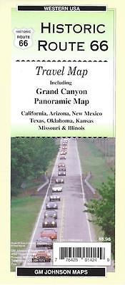 Map of Historic Route 66 & Grand Canyon, Arizona & Western
