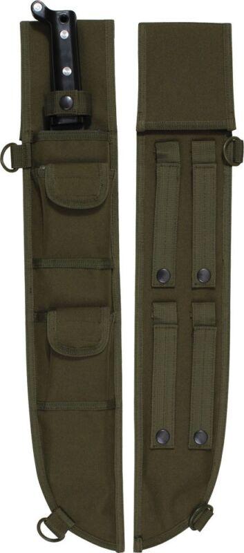 "Olive Drab Tactical MOLLE Machete Sheath Case Cover 18"""