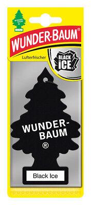 Wunderbaum® 10 Stück Black Ice Lufterfrischer Duftbaum Duft Auto