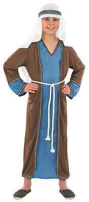 Boys Girls Blue Joseph Shepherd Christmas Nativity Fancy Dress Costume Outfit