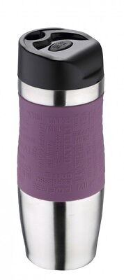 Thermobecher 400ml violett Thermo-Becher Isolierbecher Coffee To Go Kaffeebecher
