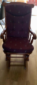 Rocking Chair - Wooden and cushioned