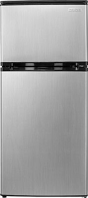 ثلاجة جديد Insignia- 4.3 Cu. Ft. Mini Fridge – Stainless steel look