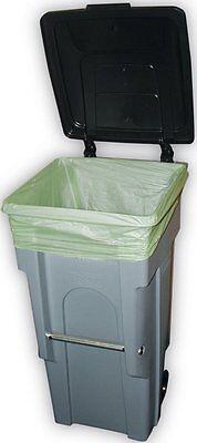Trash Bag Can Liners, Biodegradable (green), 32 Gallon, 34