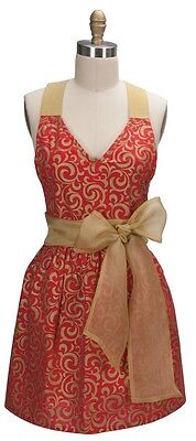HOLIDAY ELEGANCE GIRLIE FULL APRON Kay Dee Designs Organza Ties New with Tags