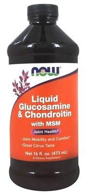 - Now Foods Liquid Glucosamine & Chondroitin w/ MSM, Joint Health 16 fl oz CITRUS