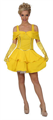 Ladies Belle Costume Adults Enchanting Beauty Fancy Dress Outfit  Fairytale (FK) - Adult Belle Costume