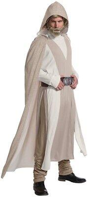 Luke Skywalker Adult Deluxe Costume Star Wars Last Jedi Robe Halloween](Deluxe Luke Skywalker Costume)