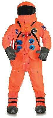 Space Suit Halloween Costume (Orange Astronaut Suit Deluxe Costume NASA Space)