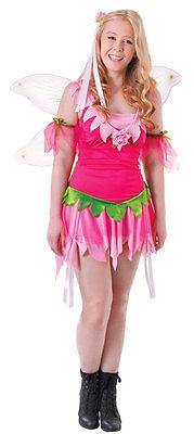 GIRLS TEEN FESTIVAL FLOWER FAIRY PINK TINKERBELL COSTUME NEW AGE 12-15 SIZE (Pink Flower Fairy Kostüm)