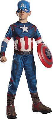 Costume Carnevale Captain America Bambino Vestito Avengers Marvel ORIGINALE!
