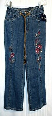 """Sonoma Jean Co Capris Size 4 NEW  28 x 23"""" Embroidery on leg Plus Rope Tie"""