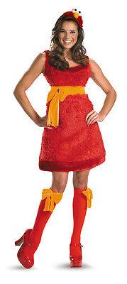 Elmo Kostüm Sesamstraße Damen 3-tlg. Halloween Kostüm Größe (Kostüme Halloween Elmo)