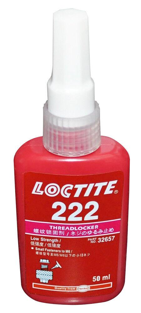 LOCTITE 222 LOW STRENGTH – THREADLOCKER – ALL METAL ADHESIVE – GLUE 50 ML Adhesives, Sealants & Tapes