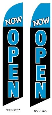 Now Open Flag Swooper Advertising Sign Banner
