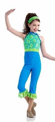 FOREVER Capri Pant Dance Costume Jazz Tap Mix N Match Sequin Lace Adult XL & 2XL - Adult Jazz Pant