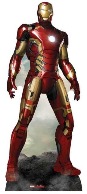 Iron Man Marvel's Avengers Age of Ultron Downey Jr Cardboard Cutout/Standup