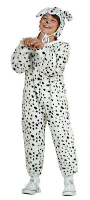 DALMATIAN DOG PUPPY CHILD COSTUME PLUSH ZOO ANIMAL KIDS JUMPSUIT WHITE BLACK - Kid Dog Costume
