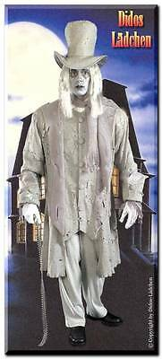 Halloween Kostüm GRUSEL-GRAF Geist  Hut Jacke Handschuhe  - Hut Kostüm Handschuhe