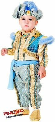Prince Outfit Toddler (Italian Made Baby Toddler Boys Arabian Genie Prince Fancy Dress Costume)