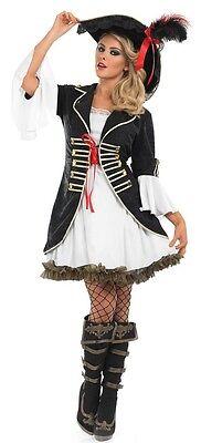 Damen Sexy Seeräuber Pirat Halloween Kostüm Kleid Outfit 8-26 - Übergröße Kostüm Piraten