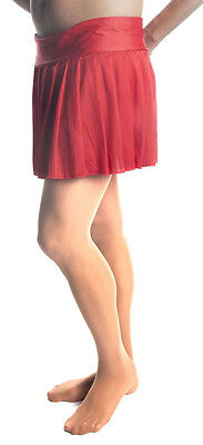 Mens Skirt, Red Pleated Skirt Sexy Style Up To 44