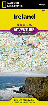 Ireland Adventure Travel Map National Geographic Waterproof