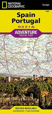 Spain & Portugal Adventure Travel Map National Geographic Waterproof