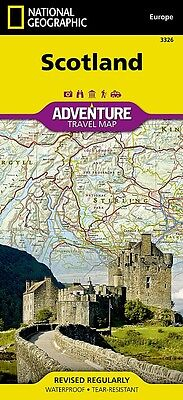Scotland Adventure Travel Map National Geographic Waterproof