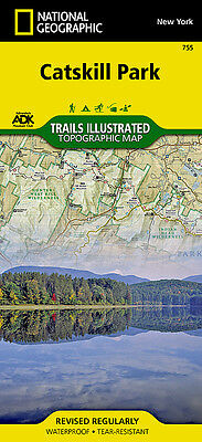 Catskill Park New York National Geographic Waterproof Topo Trail Map Catskills