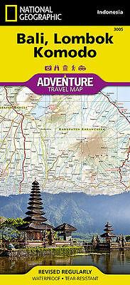 National Geographic Bali Lombok Komodo Adventure Travel Map - Asia Indonesia