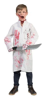 Doktor Death Kostüm für Kinder - Halloween Verkleidung Arzt Chirurg Horror ()