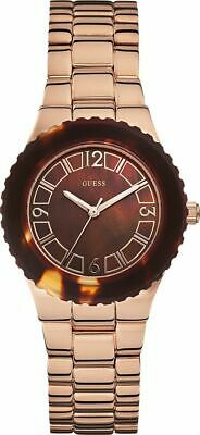 Guess Women's Rose Gold Brown Dial Stainless Steel Watch