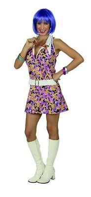 üßes Damen 60er 70er Jahre Hippie Retro Minikleid %SALE% (Süßes Kostüm)