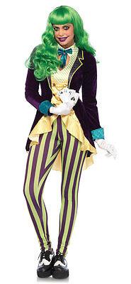 Jokers Lady Damenkostüm Deluxe NEU - Damen Karneval Fasching Verkleidung Kostüm