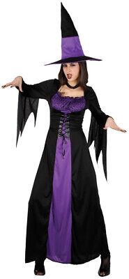 Wanda Waldhexe Kostüm schwarz-violett NEU - Damen Karneval Fasching Verkleidung