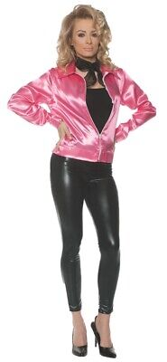 Pink Ladies Jacket Fifties 50s Womens Sandy Grease Halloween Underwraps](Fifties Costumes For Womens)