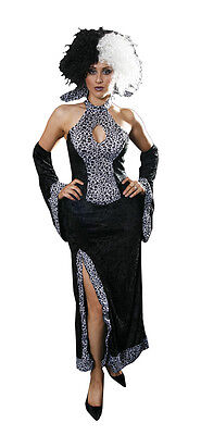 Petit Film Halloween (Sexy Dalmatian Lady Halloween Cruella Petite Fancy Dress Costume Size 6-8 )